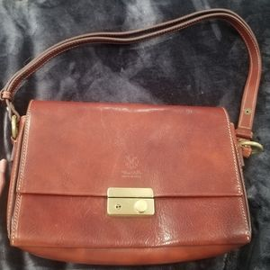 Leather shoulder bag Made in Italy